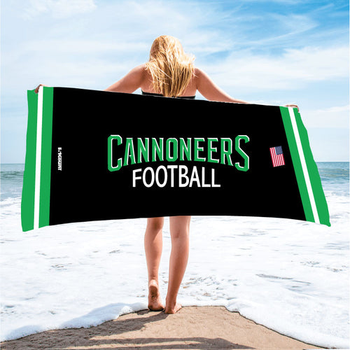 Cannoneers Football Sublimated Beach Towel - 5KounT2018