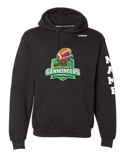 Cannoneers Football Russell Athletic Cotton Hoodie - Black / Gray - 5KounT2018