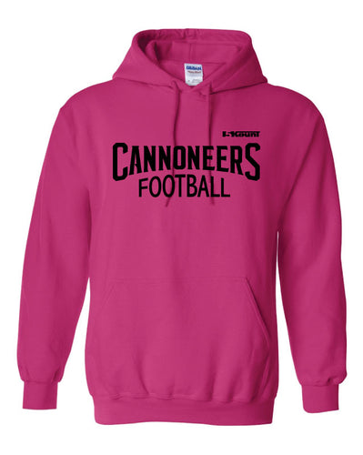 Cannoneers Football Russell Athletic Breast Cancer Awareness Cotton Hoodie - Pink - 5KounT2018