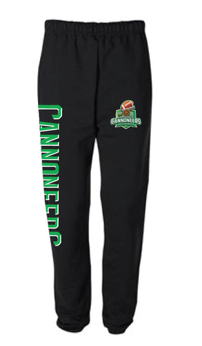 Cannoneers Football Cotton Sweatpants w/ Pockets - Black - 5KounT2018