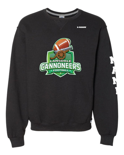 Cannoneers Football Russell Athletic Cotton Crewneck Sweatshirt - Black / Gray - 5KounT2018