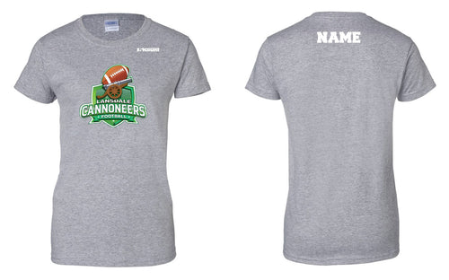 Cannoneers Football Cotton Women's Crew Tee - Gray - 5KounT2018