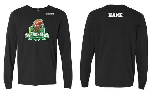 Cannoneers Football Cotton Crew Long Sleeve Tee - Black / Gray - 5KounT2018