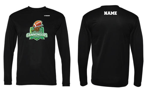 Cannoneers Football Long Sleeve DryFit Shirt - Black - 5KounT2018