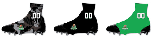 Cannoneers Football Sublimated Cleat Covers - Black / Green / Camo - 5KounT2018