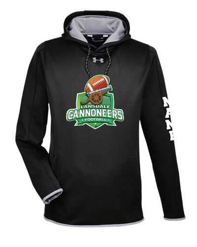 Cannoneers Football Under Armour Men's Fleece Hoodie - Black - 5KounT2018