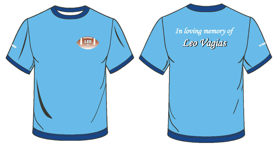 In loving memory of Leo Vagias - Sublimated Shirt-Blue - 5KounT