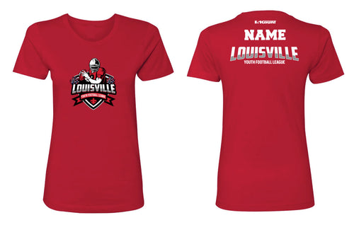 Louisville Football Cotton Women's Crew Tee Red/White - 5KounT2018