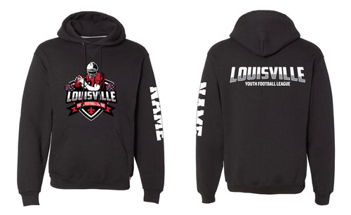 Louisville Football Russell Athletic Cotton Hoodie Black