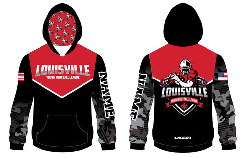 Louisville-Football Sublimated Hoodie - 5KounT2018