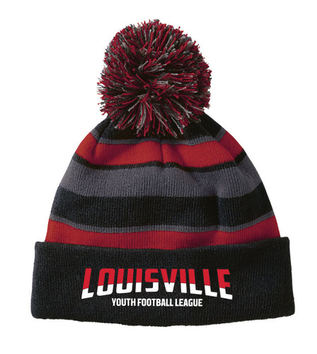 Louisville Football Pom Beanie
