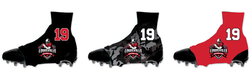 Louisville Football Sublimated Spats (Cleat Covers)
