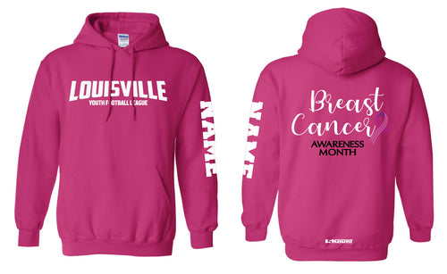 Louisville Football Cotton Hoodie Cancer Awareness