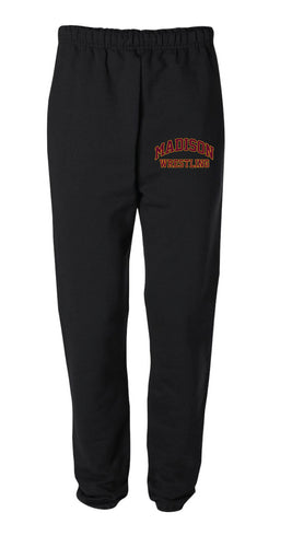 Madison Wrestling Cotton Sweatpants - Black / Gray - 5KounT2018