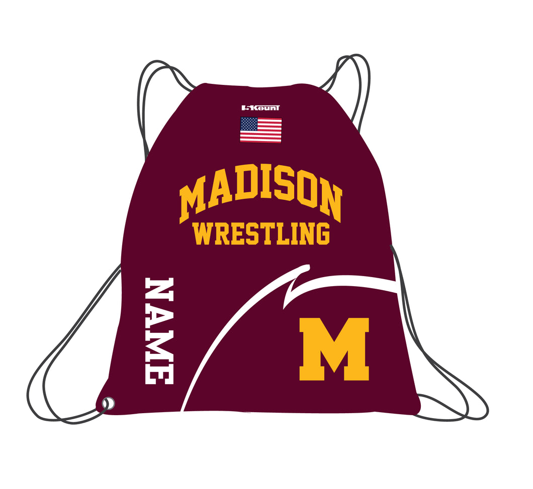 Madison Wrestling Sublimated Drawstring Bag
