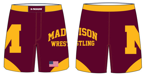 Madison Wrestling Sublimated Fight Shorts - Maroon - 5KounT2018