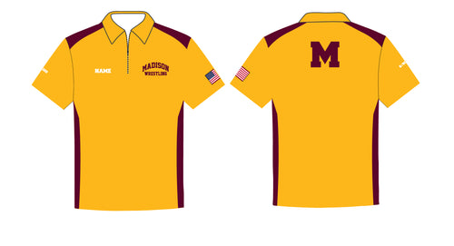 Madison Wrestling Sublimated Polo - Gold - 5KounT2018