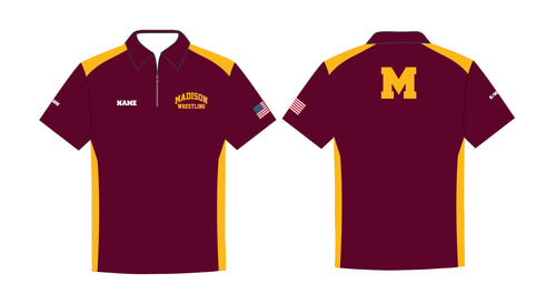 Madison Wrestling Sublimated Polo - Maroon - 5KounT2018