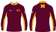 Madison Wrestling Sublimated Quarter Zip - Maroon