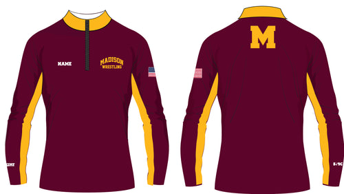 Madison Wrestling Sublimated Quarter Zip - Maroon - 5KounT2018