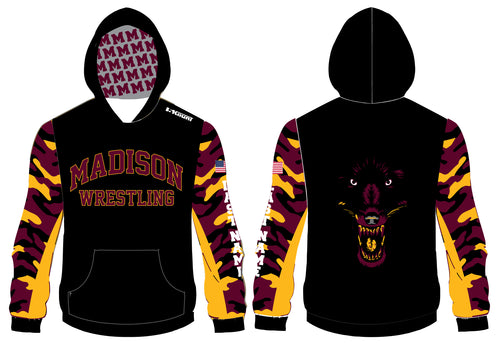 Madison Wrestling Sublimated Hoodie - Black - 5KounT2018