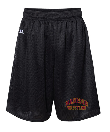 Madison Wrestling Russell Athletic Tech Shorts - Black / Gray - 5KounT2018