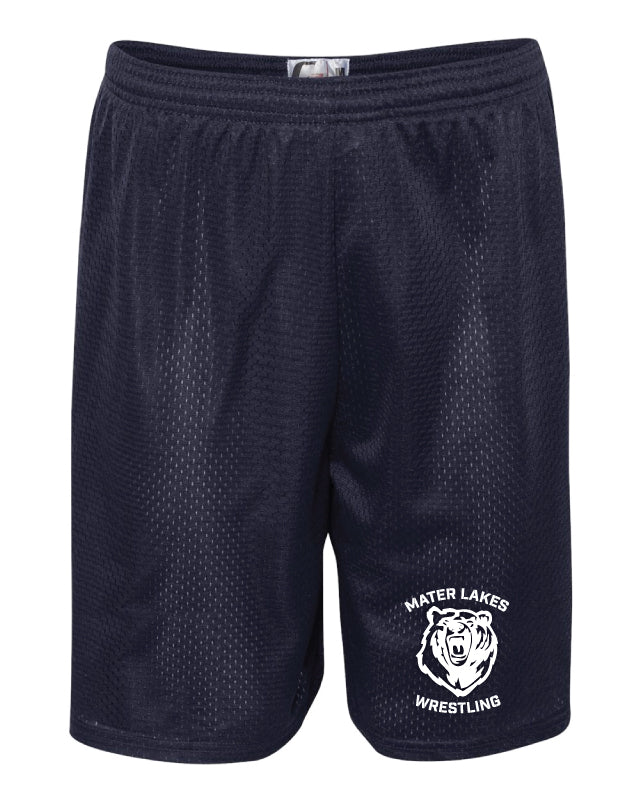 Mater Lakes Wrestling Tech Shorts - Navy - 5KounT2018