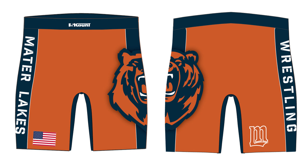 Mater Lakes Wrestling Sublimated Compression Shorts - 5KounT
