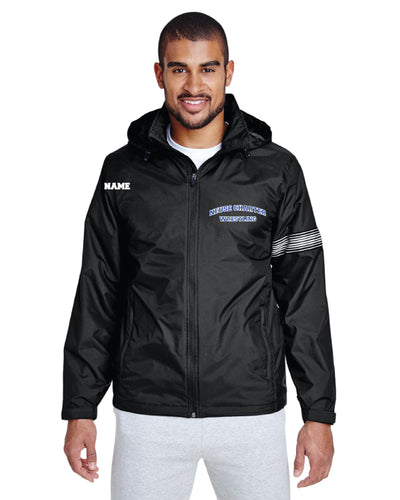 Neuse Wrestling All Season Hooded Jacket - Black