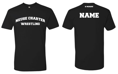 Neuse Wrestling Cotton Crew Tee - Black
