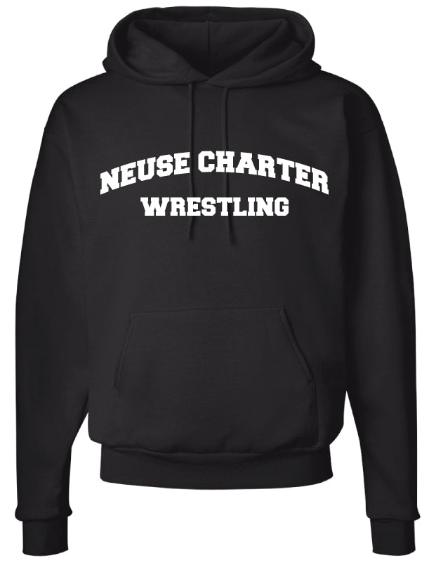 Neuse Wrestling Cotton Hoodie - Black