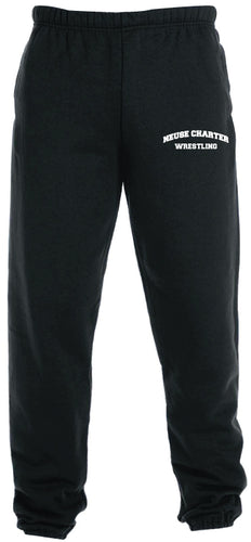 Neuse Wrestling Cotton Sweatpants - Black