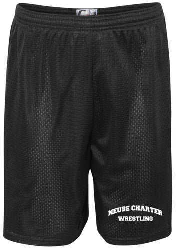Neuse Wrestling Tech Shorts - Black
