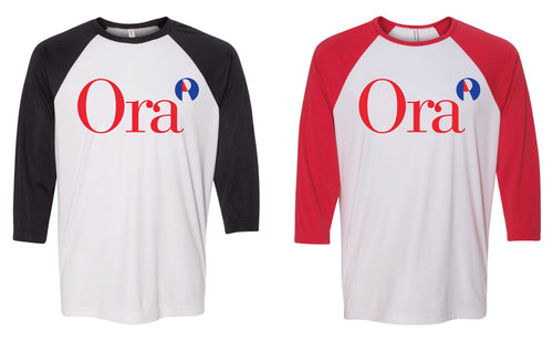Ora Clinical Baseball Shirt - Black / Red Sleeves - 5KounT2018