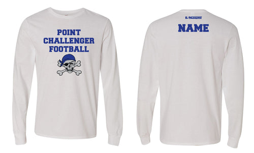 Challenger Football Cotton Long Sleeve - White - 5KounT2018