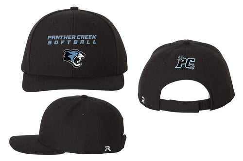 Panther Creek Softball Adjustable Baseball Cap - Black