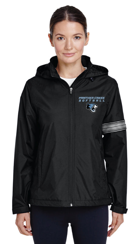 Panther Creek Softball All Season Hooded Jacket - Black