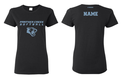 Panther Creek Softball Cotton Crew Tee - Black