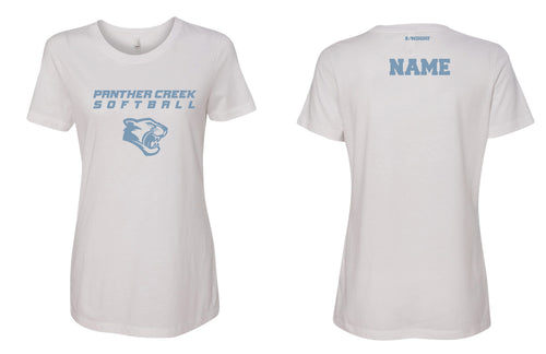 Panther Creek Softball Cotton Crew Tee - White