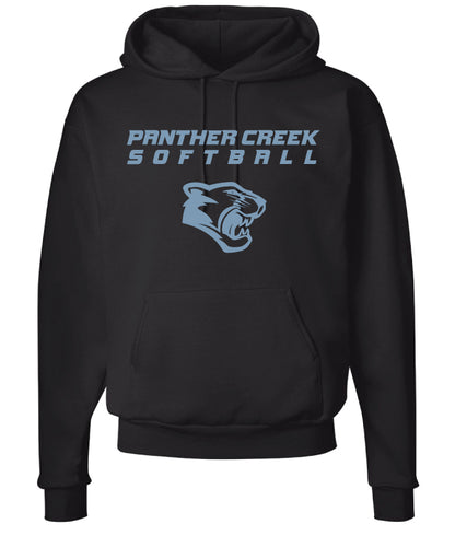 Panther Creek Softball Cotton Hoodie - Black