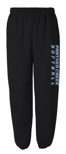 Panther Creek Softball Cotton Sweatpants - Black