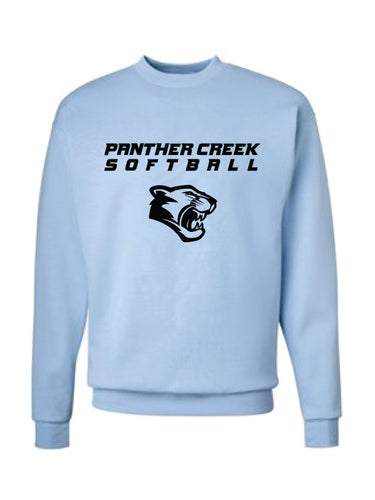 Panther Creek Softball Crewneck Sweatshirt - Blue