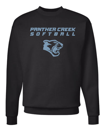 Panther Creek Softball Crewneck Sweatshirt - Black
