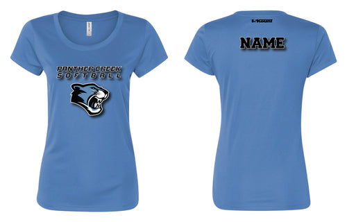 Panther Creek Softball DryFit Performance Tee - Blue / Black/ White