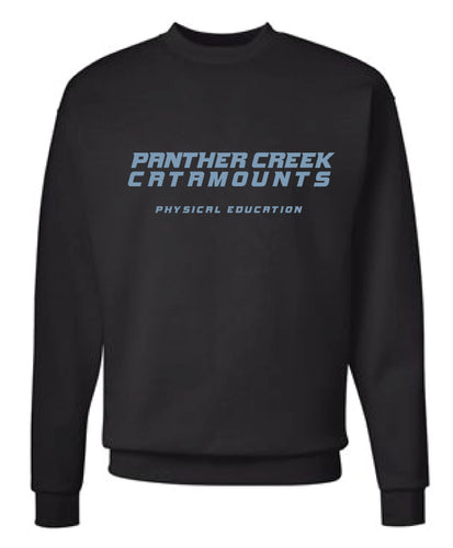 Panther Creek Softball PE Crewneck Sweatshirt - Black
