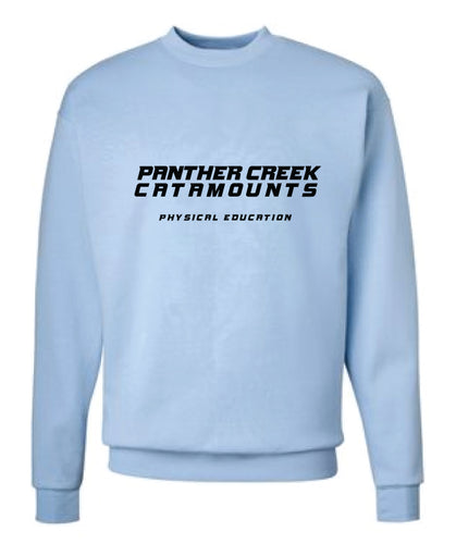 Panther Creek Softball PE Crewneck Sweatshirt -Blue