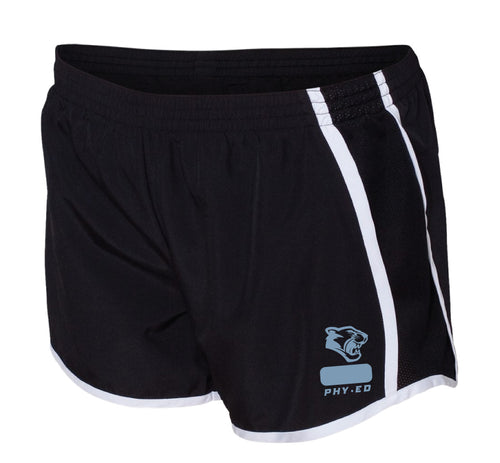 Panther Creek Softball PE Ladies Running Shorts - Black