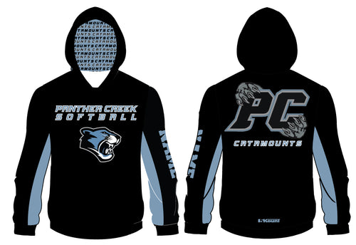 Panther Creek Softball Sublimated Hoodie - 5KounT2018