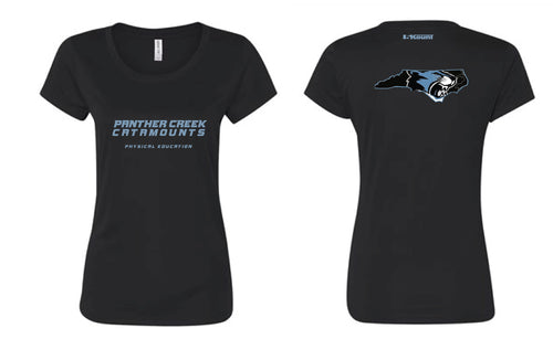 Panther Creek Softball PE DryFit Performance Tee - Women - Black