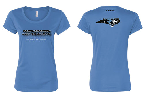 Panther Creek Softball PE DryFit Performance Tee - Women - Blue